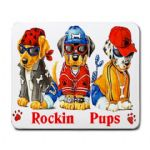Rockin Pups Mouse Mat Personalised
